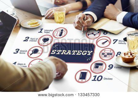 Business Analytics Strategy Methods Tactics Graphic Concept
