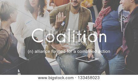 Coalition Association Alliance Corporate Union Concept