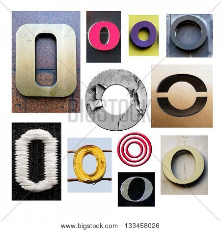 Collection alphabet. Letter O