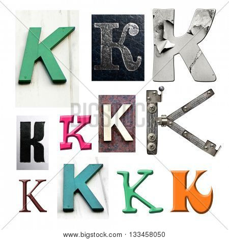 Collection alphabet. Letter K