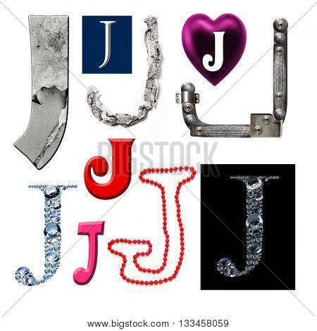 Collection alphabet. Letter J