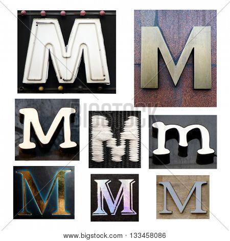 Collection alphabet. Letter M