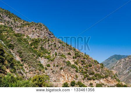 Highway 180, Kings Canyon National Park, California, Usa