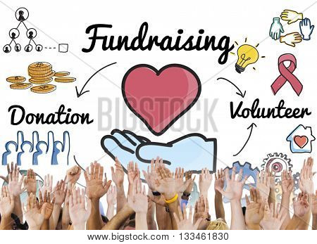 Fundraising Donation Heart Charity Welfare Concept