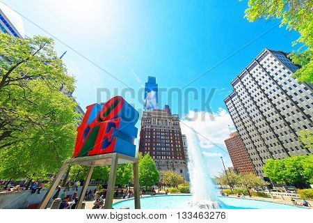 Love Sculpture In Love Park In Philadelphia Pa
