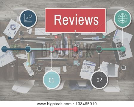 Reviews Report Evaluation Assessment Inspection Examine Concept