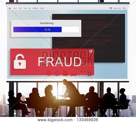 Fraud Hacking Spam Scam Phising Concept