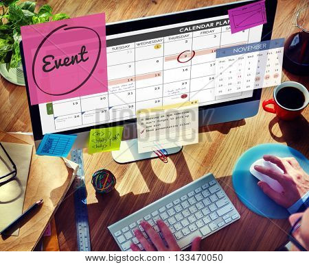 Event Celebration Occasion Happening Schedule Concept poster