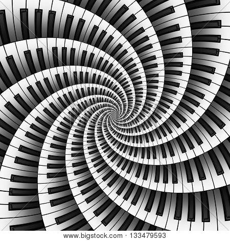 Curved keyboards in twelve way 3D spiral