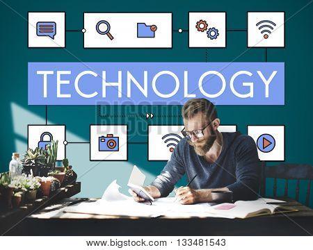 Technology Connection Innovation Internet Communication Concept