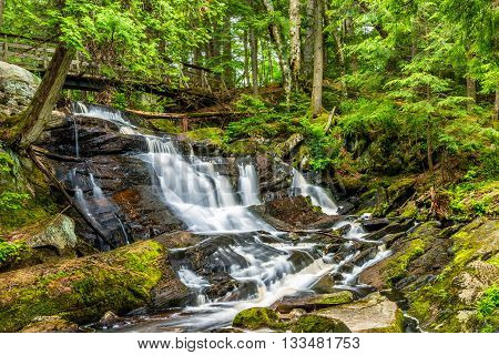 Little High Falls are located in Bracebridge Ontario Canada.