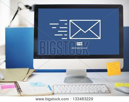 Messaging Email Send Envelope Communication Concept