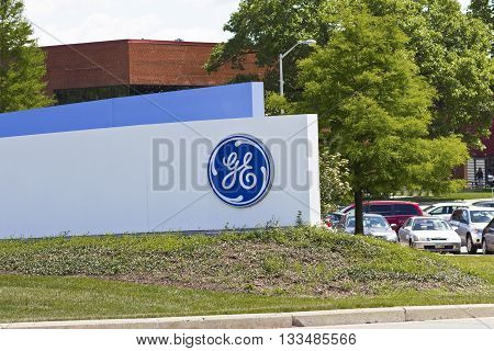 Cincinnati - Circa June 2016: Logos From the General Electric Aviation Facility. GE Aviation is a Provider of Jet Engines IV