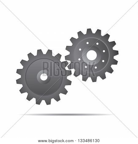 Grey Vector Sprockets. Illustration and Graphic Design.