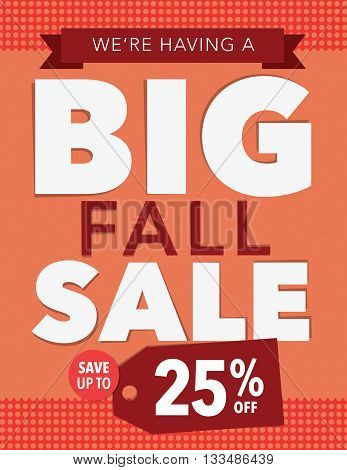 Big fall sale up to 25% off poster
