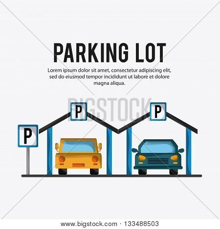 Parking lot concept with icon design, vector illustration 10 eps graphic. poster