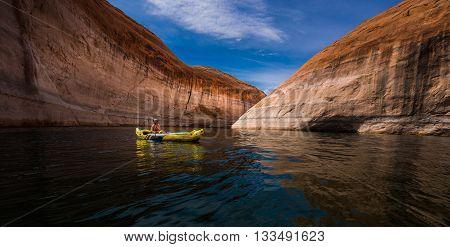 Kayaking Lake Powell Utah