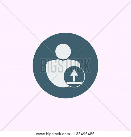 User Upload Icon In Vector Format. Premium Quality User Upload Symbol. Web Graphic User Upload Sign