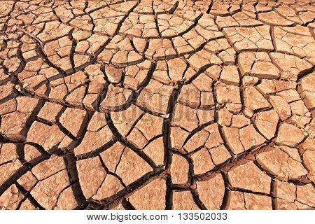 The cracked ground. dry soil. Cracked soil background