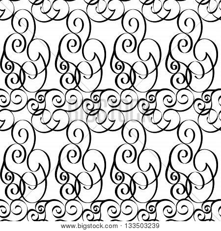 Elegant grille black and white seamless pattern EPS8 - vector graphics.