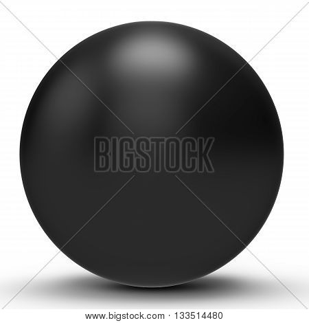 3D Black Sphere