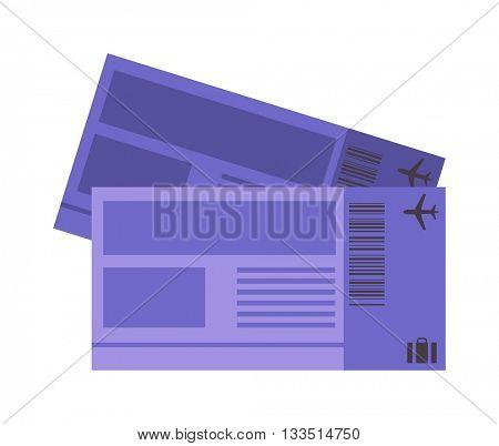 Vector illustration plane tickets.