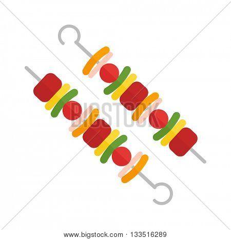 Kebab vector illustration.