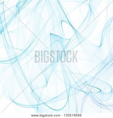 Colored smoke, blue color background, smoke background, smoke cloud. Smoke ribbon. Smoke tape. Blue smoke rbbon.