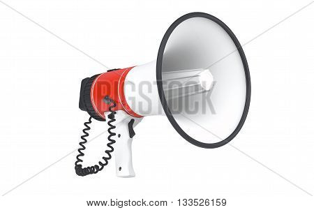 Megaphone isolated on white background with clipping path