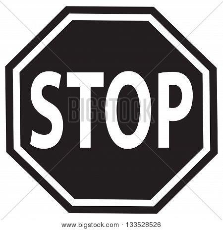 stop sign vector symbol safety sign traffic outline road