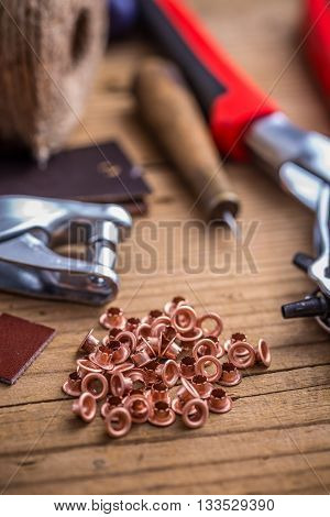 Brass Eyelets And Eyelet Punch