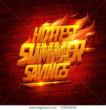 Hottest summer savings, original sale design