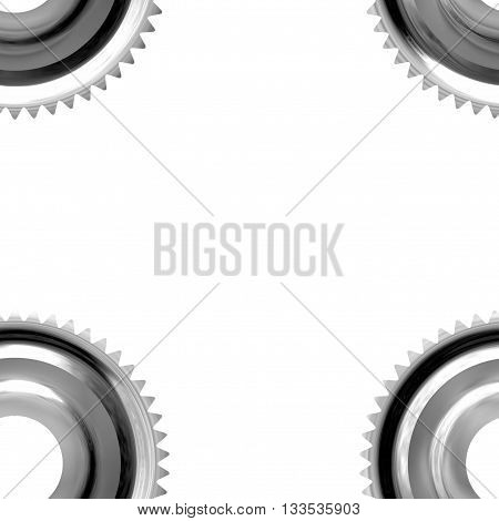 Gray sprockets on white background - abstract illustration