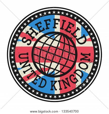 Grunge rubber stamp with the text Sheffield, United Kingdom, vector illustration