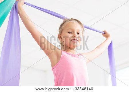 Full Of Energy For Her Favourite Gymnastics Classes