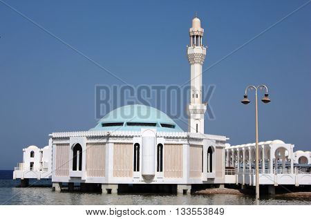 The Floating mosque in Jeddah, Saudi Arabia