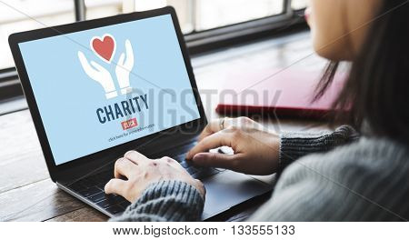 Charity Donation Help Support Charitable Assistance Concept