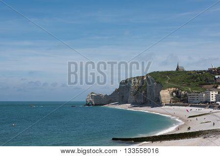 Falaise D'amont Cliff Of Etretat, Normandy, France