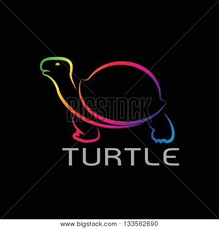 Vector images of turtle design on black background Turtle Logo Turtle Icon Turtle Tattoo Vector turtle for your design
