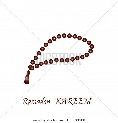 Muslim prayer beads. Vector illustration. Gradient. Illustration of Islamic beads. Rosary beads.Vector isolated.Turkish rosary bead