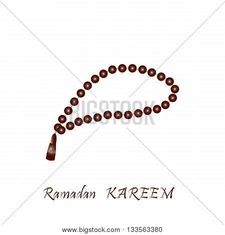 Muslim prayer beads. Vector illustration. Gradient. Illustration of Islamic beads. Rosary beads.Vector isolated.Turkish rosary bead