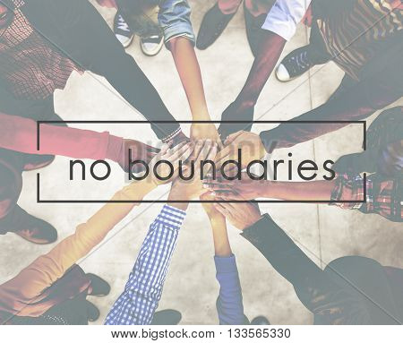 No Boundaries Explore Immigration Freedom Concept