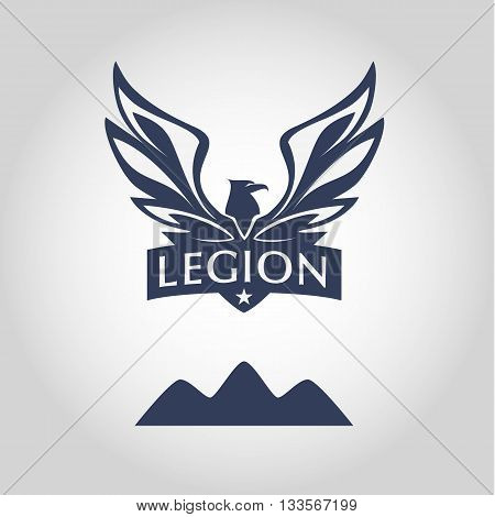 Vector Logo Template. Legion Label. Logo With Eagle. Sport Team