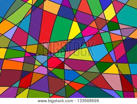 Color splinters, an abstract pattern, modern style in art