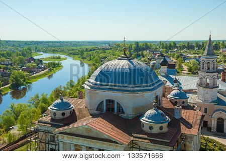 Boris and Gleb Monastery in the ancient Russian city of Torzhok