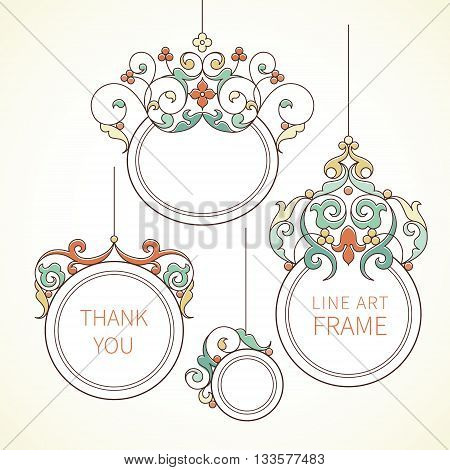 Vector Decorative Frames In Eastern Style.