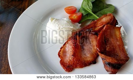 Bacon with Poached Egg 2