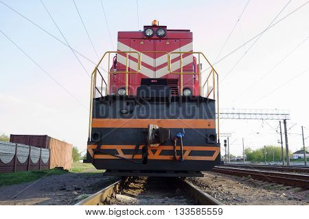 Powerful Train On The Rails