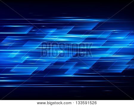 High speed, Hi-tech, Blue bstract technology background, Vector illustration