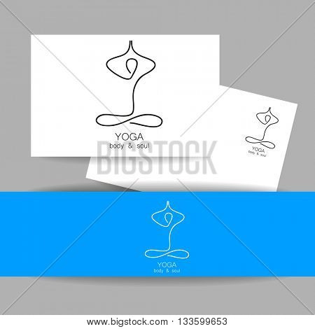 Yoga logo - design template. Yoga, Health Care, Beauty, Spa, Relax, Meditation, Nirvana concept icon. Identity presentation. Template for yoga center, spa center or yoga studio. Vector illustration.